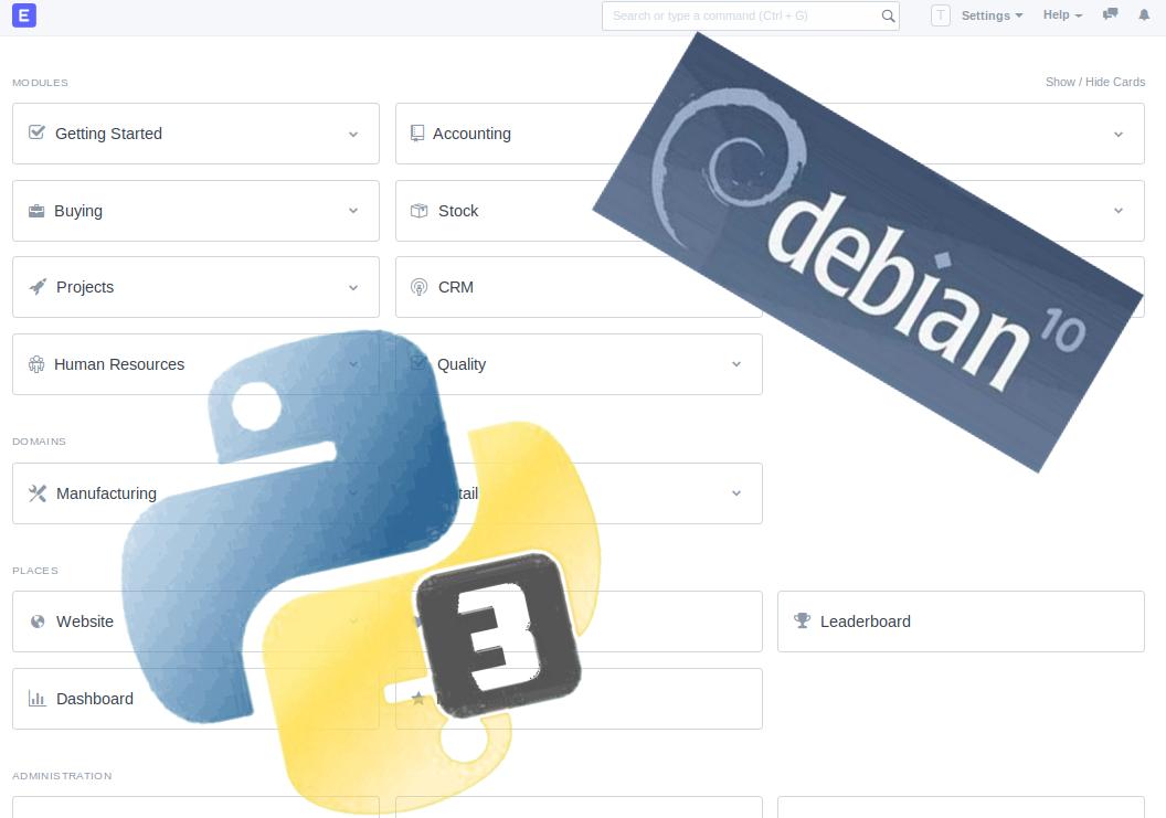 [NEW:2020-07-13] ERPNext v12 manual install on Debian Buster 10.3+ with Python v3+